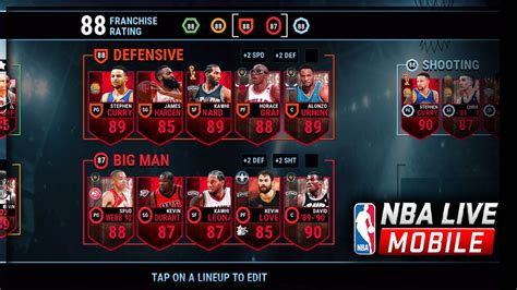 mobile nba best nba live mobile team steph curry gameplay