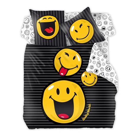 Smiley Fille Couette by Ikase Smiley Trio Jaune Parure Housse De Couette Et 2