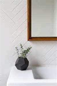 white herringbone bathroom tiles modern bathroom