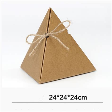 triangle pyramid favor candy tea boxes kraft paper gift