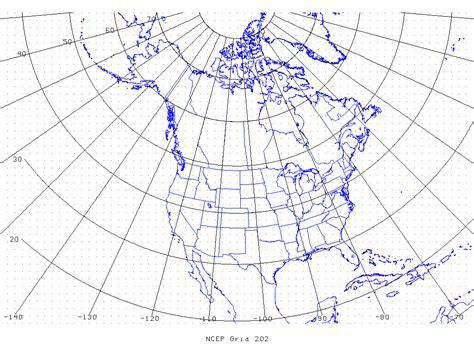 define grid pattern geography on388 grib table b grid identification