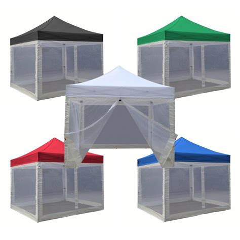 canopy tent with awning 10x10 pop up canopy tent with screen walls roller bag