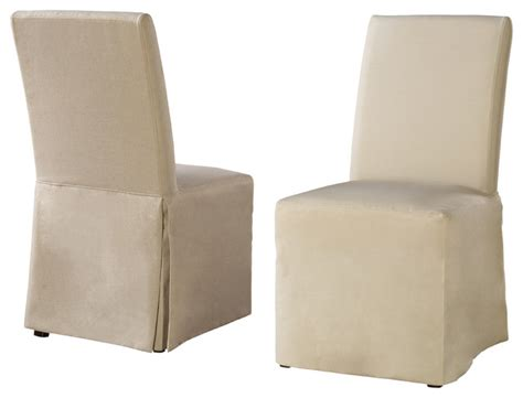 linen dining chair slipcovers sadie linen parsons chair with beige tan and gray
