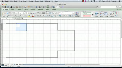 draw floor plans in excel video how to make a floorplan in excel ehow