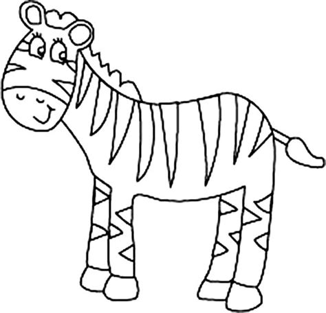 coloring pages for zebra zebra coloring pages for preschooler coloringstar