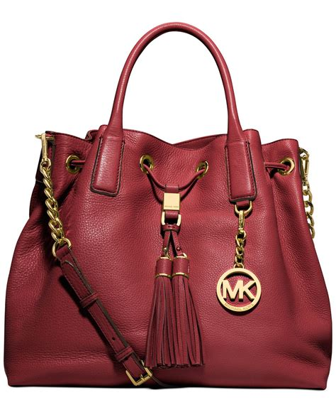 Michael Kors Leather Drawstring Satchel by Michael Kors Camden Handbag Large Leather Drawstring
