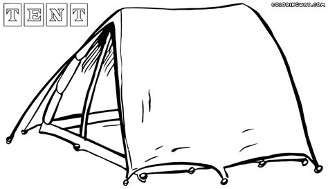 tent coloring pages coloring pages to download and print