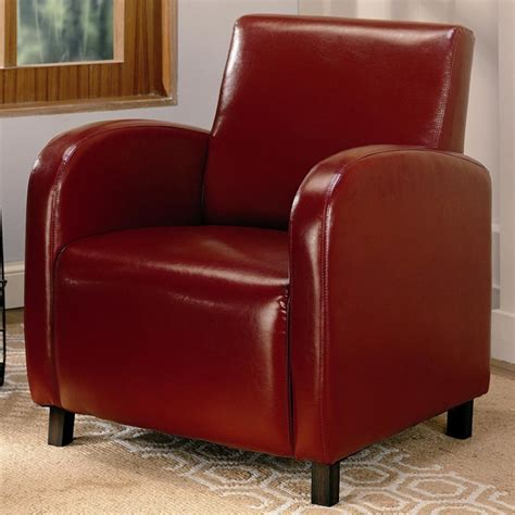 accent arm chair red