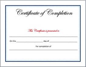 Certificate Template Word by Completion Certificate Template