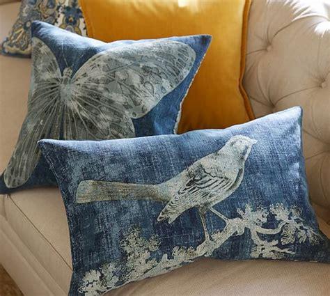 batik bird printed lumbar pillow cover pottery barn