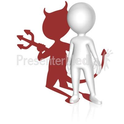 Shadow Devil Figure Presentation Clipart Great Clipart Presentor Media