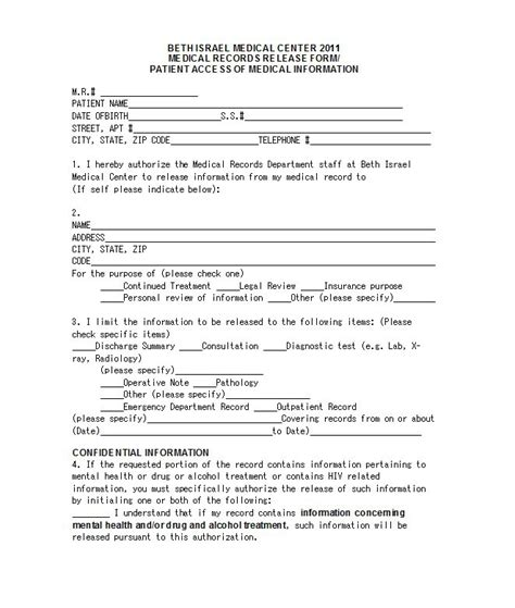 emergency room release form template 30 release form templates template lab