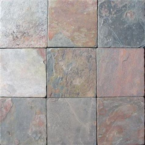 ms international multi color 4 in x 4 in tumbled slate floor and wall tile 1 sq ft case