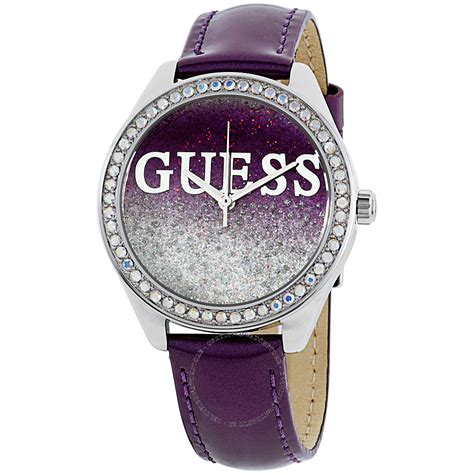 Guess Ac Lether Purple guess glitter w0823l4