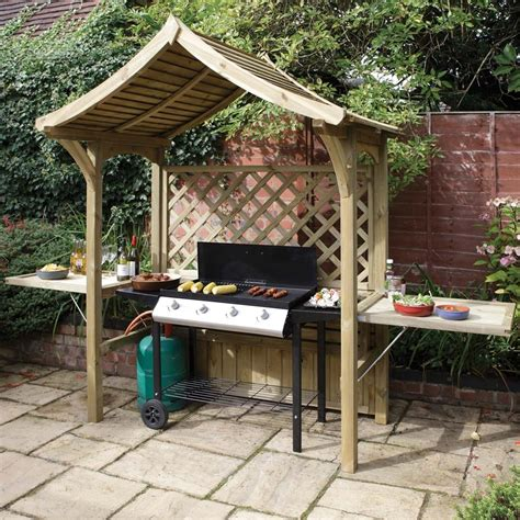 pavillon 5x5 2 in 1 seated bbq garden arbour bench seat