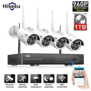 Cctv Ip Kamera Outdoor 1 3 Mp hiseeu wireless cctv system 960p 4ch 1 3mp ip