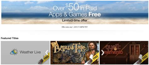 Amazon Daily App Giveaway - deal alert amazon is giving away 50 worth of free games