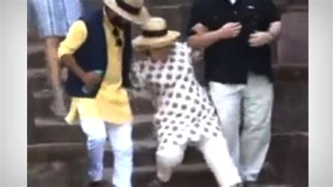 hillary clinton falling down stairs the daily caller the world rejection tour hillary rips america falls down