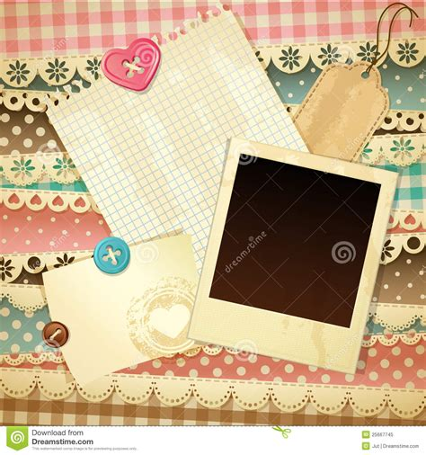 scrapbooking template scrapbook template stock vector image of page design