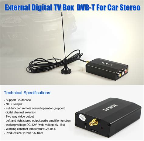 Tv Tuner Stereo external dvb t tv car radio stereo tuner receiver digital tv box with antenna ebay