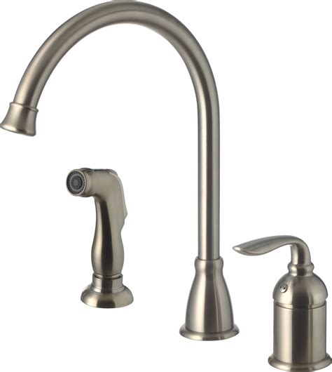 brewst single hole kitchen faucet brushed nickel ss single handle kitchen faucet with side spray brushed