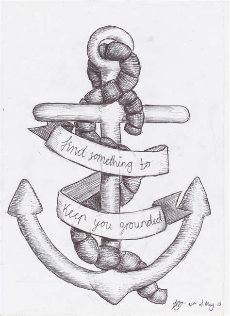 cool anchor tattoo designs anchor design by sempeternally on deviantart