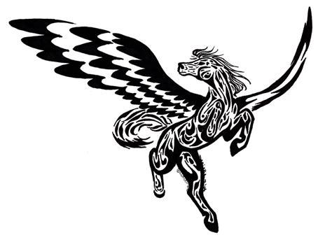 35 tribal pegasus tattoos collection