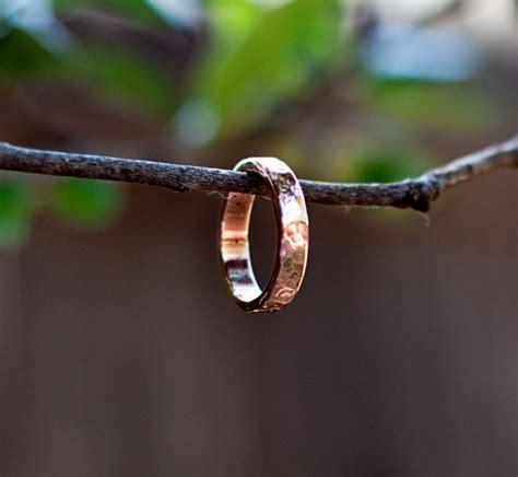 Handmade Copper Rings - handmade hammered copper ring