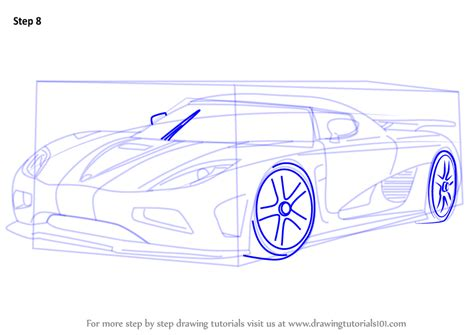 how to draw sports car draw step by step learn how to draw koenigsegg agera r sports cars step by