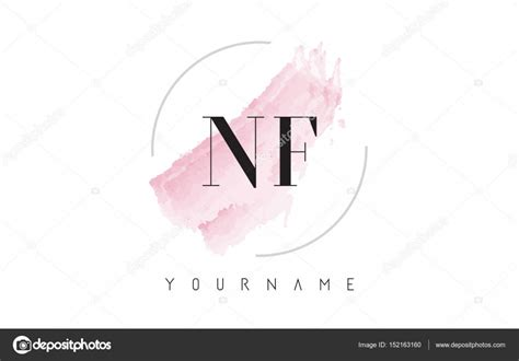 layout completo nf e 3 1 nf n f watercolor letter logo design with circular brush