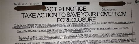 How Does It Take To Foreclose On A House by Act 91 Notice Doesn T You Re Losing Your Home
