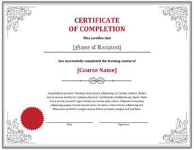 template of certificate of completion 7 certificates of completion templates free