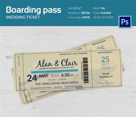 boarding pass boarding pass invitation template 36 free psd format