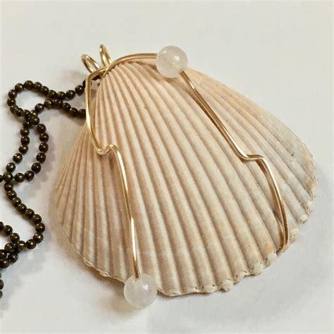 Handmade Shell Earrings - shell necklace handmade jewelry nautical