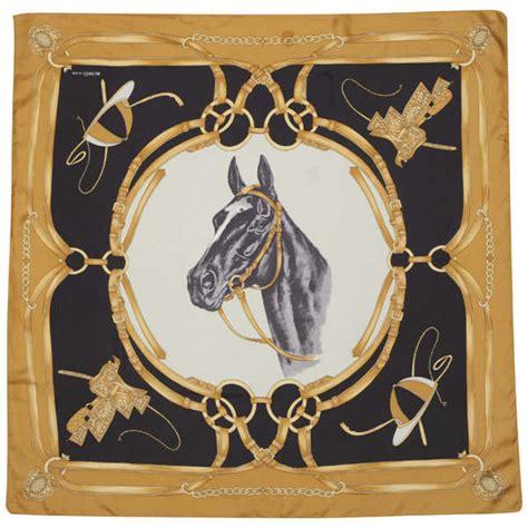 S4 Satin Motif 2 hermes vintage motif equestrian print silk scarf