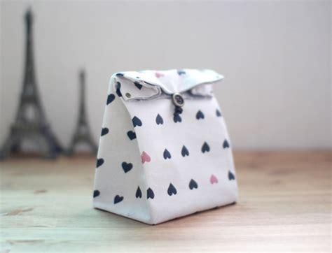 Pouch Kotak Handmade Canvas fabric gift bag tutorial diy tutorial ideas
