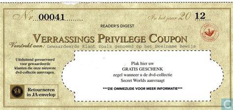 te koop coupon verrassings privilege coupon readers digest catawiki