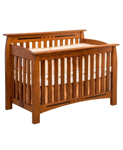 Crib Converter Linbergh Conversion Crib Amish Direct Furniture