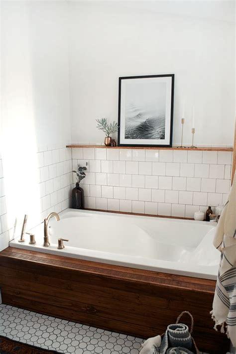 vintage modern bathroom modern vintage bathroom reveal natural shelves ceiling