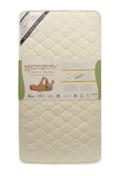 Naturepedic Quilted Organic Cotton Deluxe Crib Mattress by Naturepedic Quilted Organic Cotton Deluxe Crib Mattress