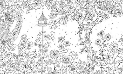 secret garden coloring book page one 17 best images about coloring pages tree of on