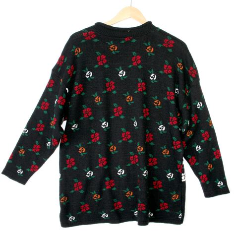 valentines day sweaters vintage 80s hearts and roses oversized slouch valentines