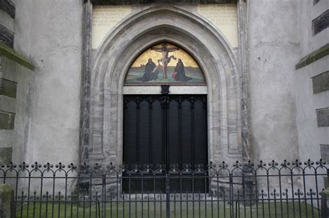 Wittenberg Door by Looking At Wittenberg In The Time Of Martin Luther