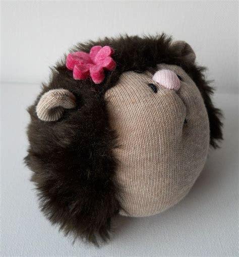 diy sock hedgehog hedgehog plush animal from treacher creatures 15 00
