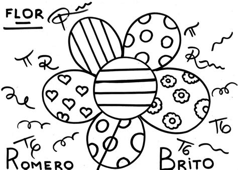 free coloring pages of romero britto