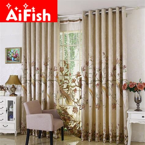 fashion window curtains fashion window treatments embroidered parrot french window