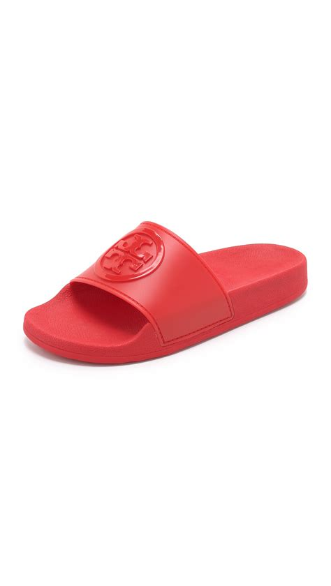 burch jelly slippers burch jelly flat slides in lyst