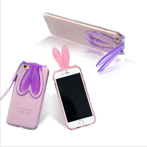 Fasion Bumper With Tpu Protection For Iphone 5 5s fashion transparent silicone tpu bumper rabbit ears