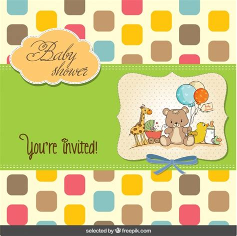colorful baby colorful baby shower card vector free