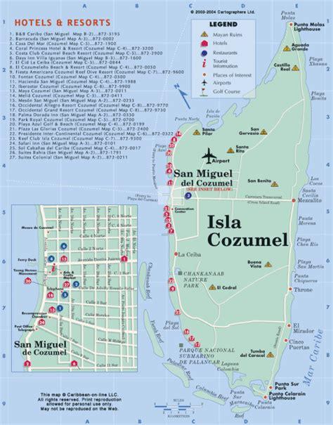 cozumel map cozumel mexico map images